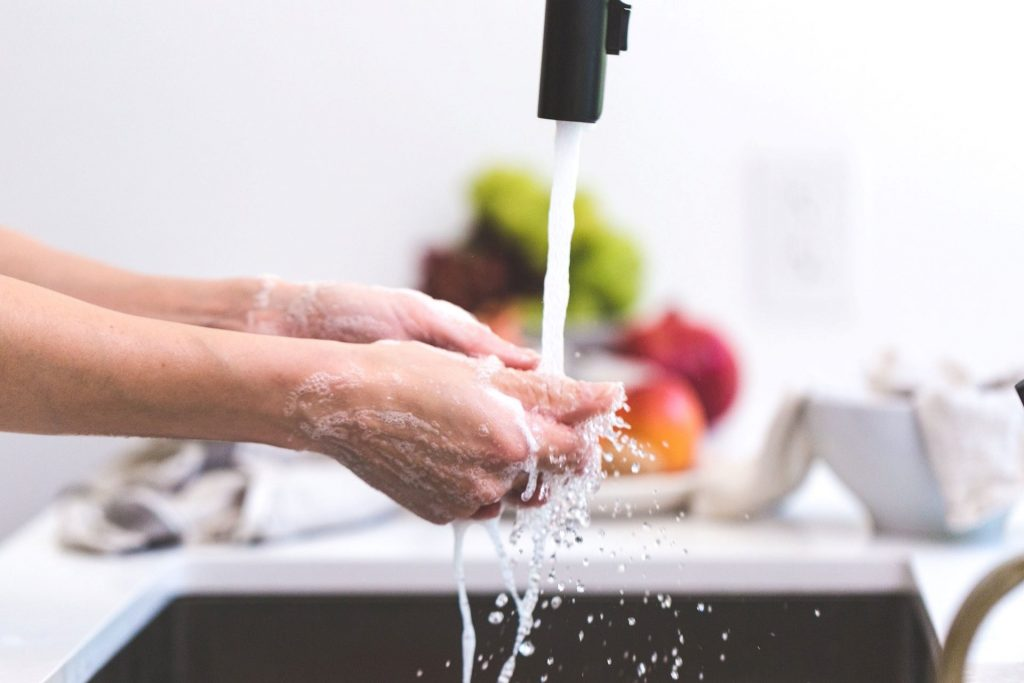 hand washing post